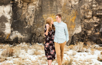 Maddie & Rhett's Winter Mountain Engagement Session